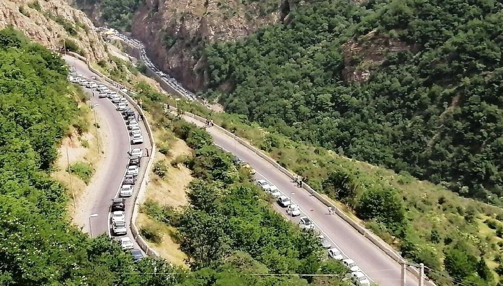 هجوم مسافران به مازندران/ ترافیک شدید در جاده کندوان